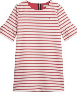 Tommy Hilfiger Kleid »ESSENTIAL STRIPE SHIFT DRESS S/S« rot