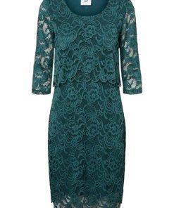 Mamalicious Spitzen Still-Kleid grün