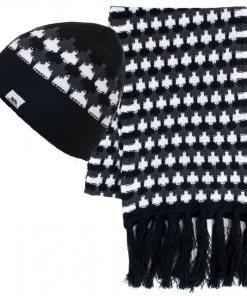 Trespass Strickschal »Damen Bunty Winter Schal und Mütze« schwarz