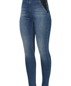 Mamalicious High Waist Slim Fit Jeans blau