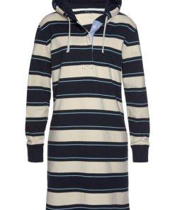 Gant Sweatkleid mit sportlicher Kapuze blau