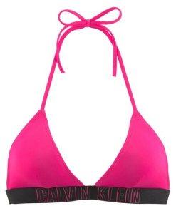 Calvin Klein Triangel-Bikini-Top  mit Calvin Klein-Schriftzug rosa