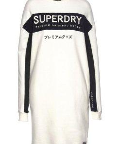 Superdry Sweatkleid »PANEL GRAPHIC SWEAT DRESS« im sportiven Athleisure-Look weiß