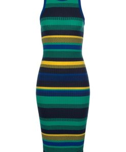 Superdry Jerseykleid »KNITTED STRIPE MIDI DRESS« in extravaganter Streifen- und Musteroptik