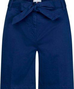 TOMMY HILFIGER Bermudas »MIRA« mit verspieltem Tailiengürtel zum Binden blau