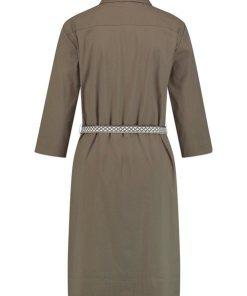 GERRY WEBER Kleid Gewebe »Hemdblusenkleid« grün