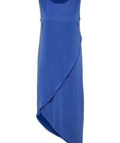 SELECTED FEMME Asymmetrisches Midikleid blau