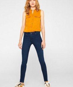Esprit Stretch-Jeans aus Dark Denim mit Organic Cotton blau