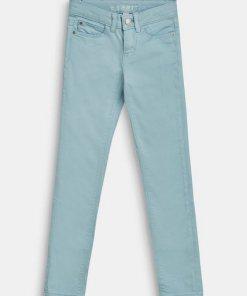 Esprit Colored Stretch-Jeans mit Verstellbund blau