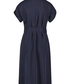GERRY WEBER Kleid Gewebe »Blusenkleid aus Lyocell« blau