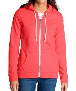 Eddie Bauer Sweatjacke Camp Fleece Kapuzenjacke rot