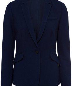 Esprit Collection Kurzblazer in Waffeloptik blau