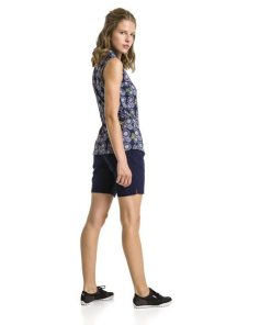 PUMA Shorts »Pounce Damen Golf Bermudas« blau