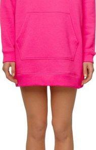 TOMMY HILFIGER Sweatkleid »TH ESS HOODED DRESS LS« mit Tommy Hilfiger Logo-Stickerei & großer Kängurutasche rosa