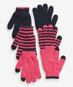 Next Handschuhe  3er-Pack 3 teilig rosa