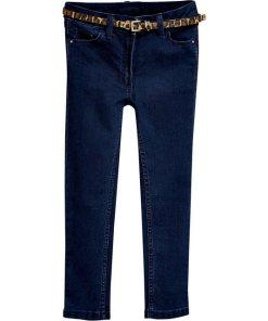 Next Jeans Skinny Fit mit Gürtel für Mädchen blau