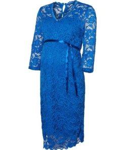 Mamalicious Spitzen- Umstandskleid blau