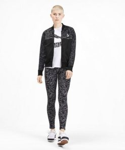 PUMA Softshelljacke »Classics Allover-Print Damen Trainingsjacke«