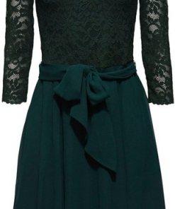 Esprit Collection Spitzenkleid aus femininer Spitze und Chiffon grün