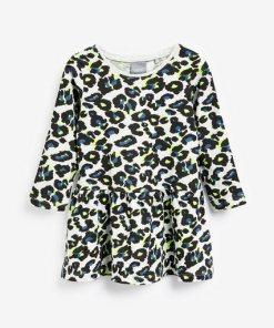 Next Kleid mit Animal-Print grau