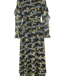 Scotch & Soda Maxikleid »mit Allover-Print« Chiffon