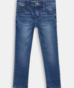 Esprit Stretch-Jeans mit Washed Out-Effekt blau