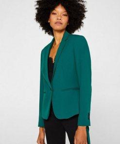 Esprit Collection 1-Knopf-Blazer mit Stretch grün