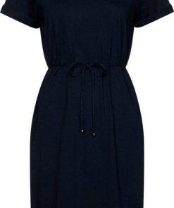 TOMMY HILFIGER Jerseykleid »ANGELA REGULAR C-NK DRESS SS« Mit Tommy Hilfiger Logostickerei blau