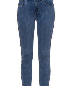 TOMMY HILFIGER Skinny-fit-Jeans »COMO SKINNY RW DORAN« mit Destroyed-Effekten & Tommy Hilfiger Logo-Badge blau