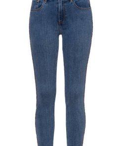 TOMMY HILFIGER Skinny-fit-Jeans »COMO SKINNY RW DORAN« mit Destroyed-Effekten & Tommy Hilfiger Logo-Badge weiß