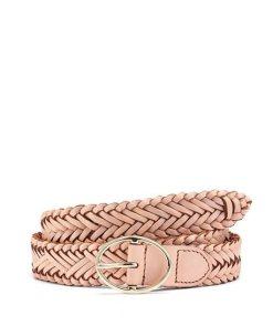 LASCANA Flechtgürtel aus Leder rosa