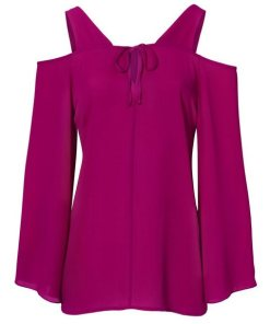 heine TIMELESS Bluse mit Cut-Outs rosa