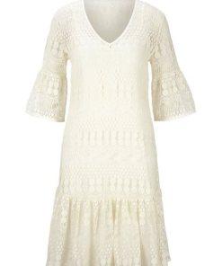 heine STYLE Spitzenkleid mit Unterkleid weiß