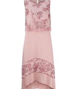 heine CASUAL Jerseykleid mit hochwertigen Spitzendetails rosa