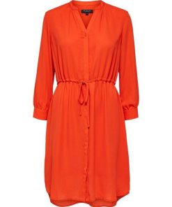 SELECTED FEMME Petite Midikleid orange