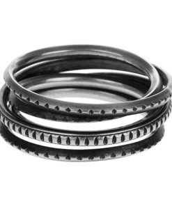 Ring Wound Trace Silver Silber