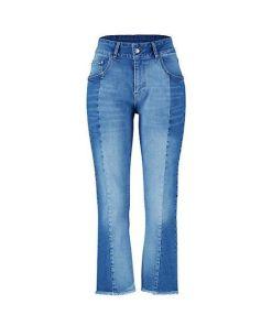 Deerberg Damen Stretch Jeans Tavita blue-used-mid-denim - auch in Übergrößen