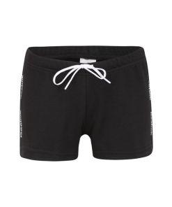 REEBOK Sporthose schwarz / weiß