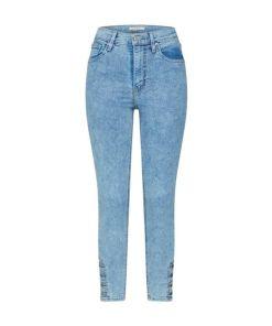 LEVI'S Jeans 'MILE HIGH ANKLE BUTTON HEM' blue denim