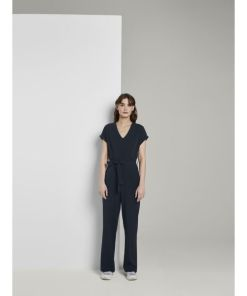 TOM TAILOR Jumpsuit Jumpsuit mit Bindegürtel