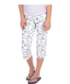 Trigema 3/4 Schlafanzughose mit modischem Druck