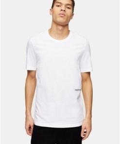 CALVIN KLEIN T-Shirts im Doppelpack, weiß, WEIß