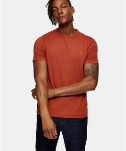 Farah 'Dennis' T-Shirt mit kurzen Ärmeln, orange, ORANGE