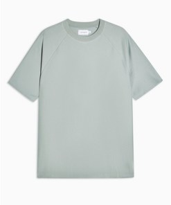T-Shirt aus Twill mit Raglanärmeln, grün, GRÜN