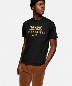 Levi's T-Shirt mit Pferde-Print, schwarz, SCHWARZ
