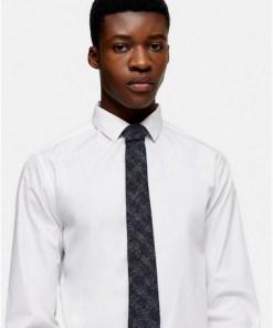 Karierte Krawatte, grau und blau, BLAU
