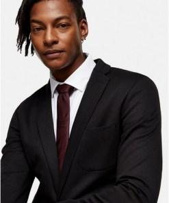 Premium-Krawatte aus Seide, weinrot, ROT