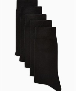 Socken im 5er-Pack, schwarz, SCHWARZ