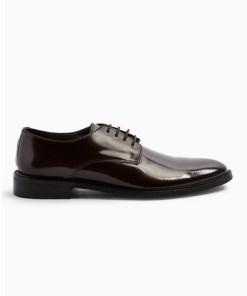 BURGUNDDerby-Schuhe aus echtem Lackleder, weinrot, BURGUND