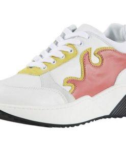 Heine Sneaker mit trendig breiter Sohle, weiß